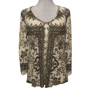 Lucky Brand Printed Tunic